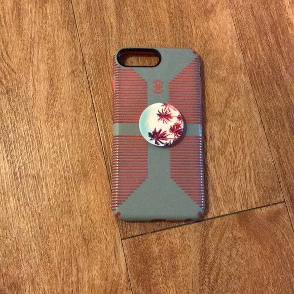 on sale f2384 2c5f7 iPhone 7 Plus speck case with pop socket